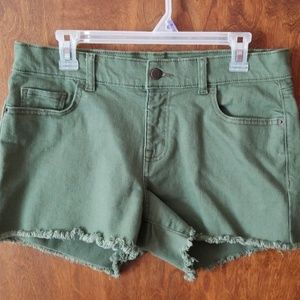 Old Navy Olive Green cut off shorts
